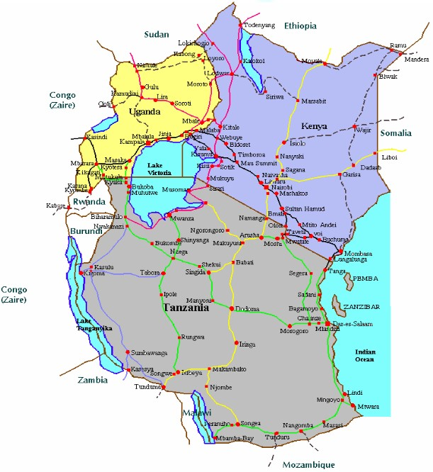 east africa road map East Africa And The European Union Nicolas De Zamaroczy east africa road map